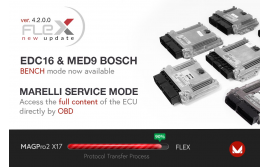 Flex ver 4.2.0.0 released - New solutions in Bench for Bosch EDC16 & MED9 and OBD for Marelli
